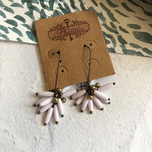Plunder White Bead Cluster Drop Earrings